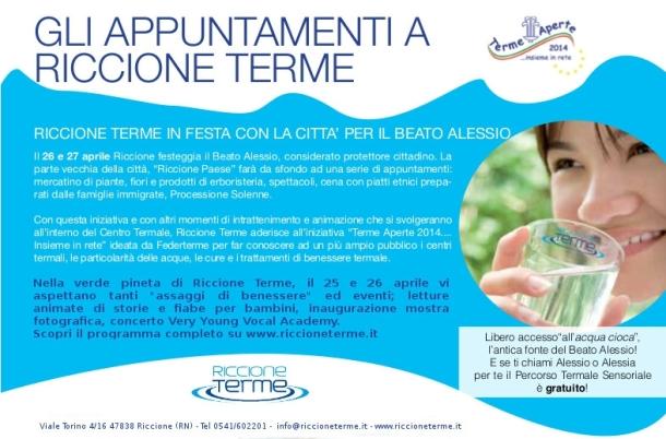 Festa Terme aperte Riccione Terme 25 e 26 aprile 2014