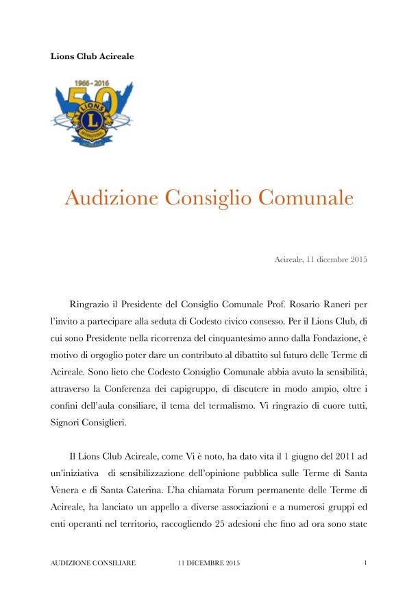 Audizione Consiglio 11dic